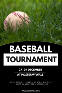 Baseball game tournament flyer template Poster