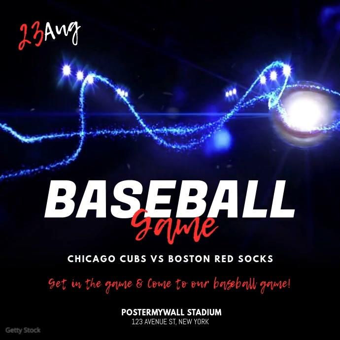 Baseball Game Video Ad Template Wpis na Instagrama