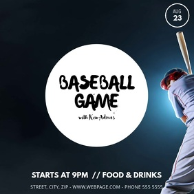 Baseball Game Video Template