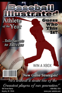 Baseball illustrated Magazine Cover