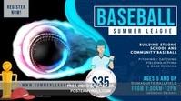 Baseball League Registration Banner Video