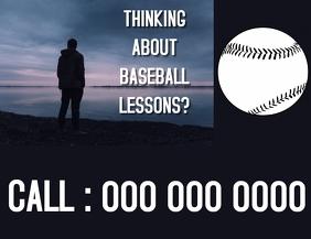 BASEBALL LESSONS FLYER