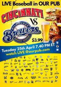 Baseball Live Poster