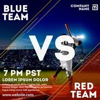 baseball match advertising instagram post tem template