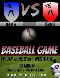 BASEBALL MATCH FLYER DIGITAL