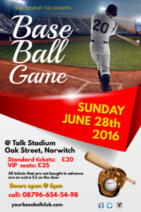 Baseball Match Invitation