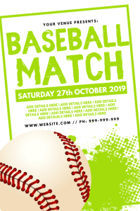 Baseball Match Poster template