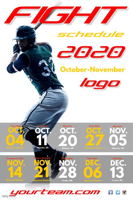 Baseball Match Schedule Poster