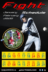 baseball Match Schedule Poster