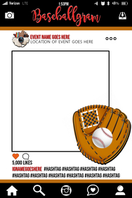 Baseball Party Prop Frame