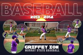 Baseball Photo Collage Template