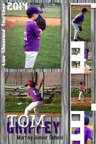 Baseball Photo Collage Template Poster