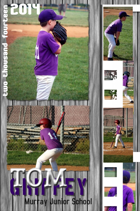 Baseball Photo Collage Template Plakat