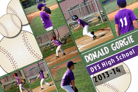 Baseball Photo Collage Template