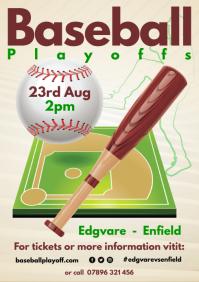 Baseball Playoffs Poster