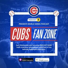 Baseball Podcast Invitation Instagram Image