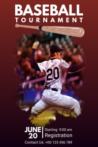 Baseball poster Design Iphosta template