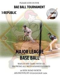 baseball poster Folheto (US Letter) template