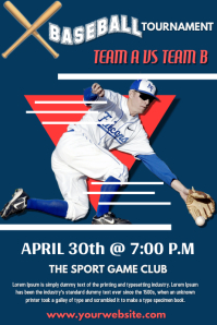 Baseball Poster Design Template Póster