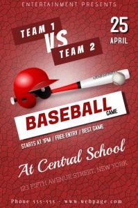 Baseball Poster Template Póster