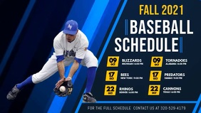 Baseball Schedule Digital Display Video template
