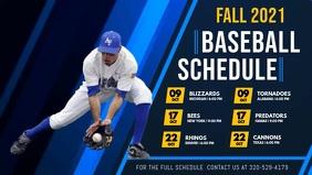 Baseball Schedule Digital Display Video Facebook-Covervideo (16:9) template