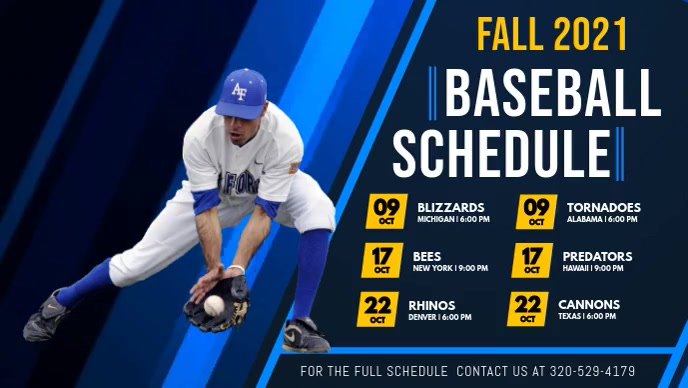 Baseball Schedule Digital Display Video Facebook-omslagvideo (16:9) template