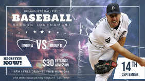 Baseball Seasonal Registration Display Ad