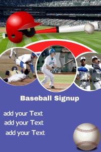 Baseball Signup poster