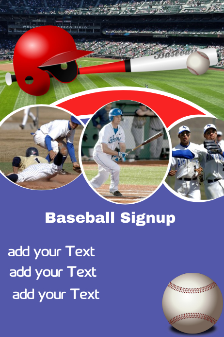 Baseball Signup poster template
