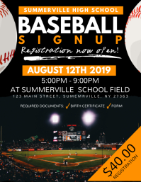 Baseball Signup Flyer