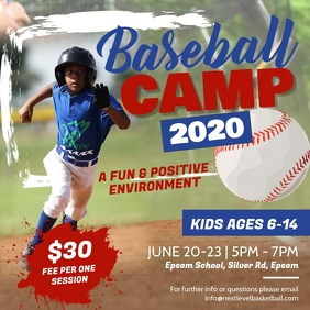 Baseball Sports Camp Square Video