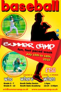 Baseball Summer Camp Poster