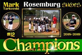 Baseball Team Poster template