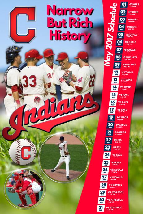baseball team schedule template postermywall