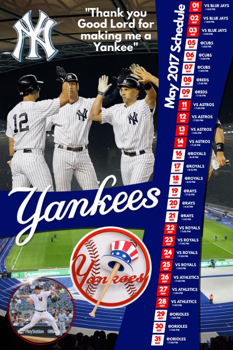 Baseball Team Schedule Poster
