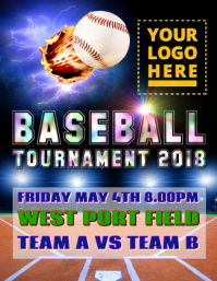 Baseball Tournament 2018 Flyer (US Letter) template