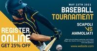 Baseball tournament facebook advertising Facebook-annonce template