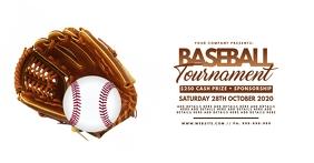 Baseball Tournament Facebook Event Poster