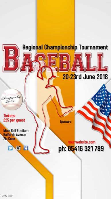 Baseball Tournament Template
