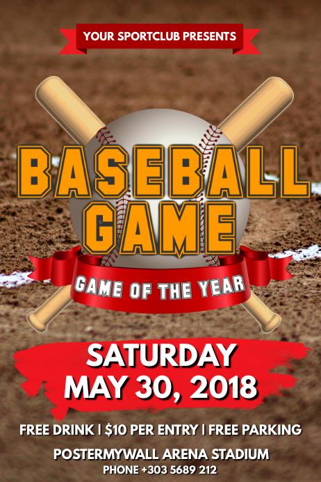 Baseball Tournament Poster template