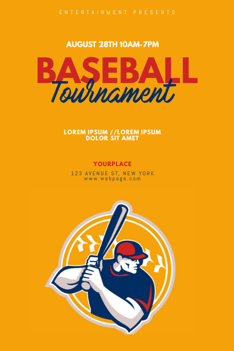Baseball Tournament Flyer Template