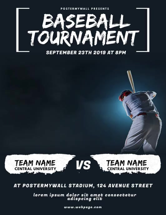 Baseball Tournament Flyer Video Design