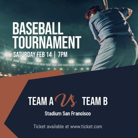 Baseball Tournament Instagram Post template