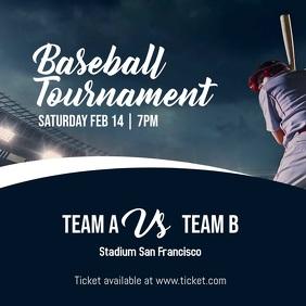 Baseball Tournament Instagram Post