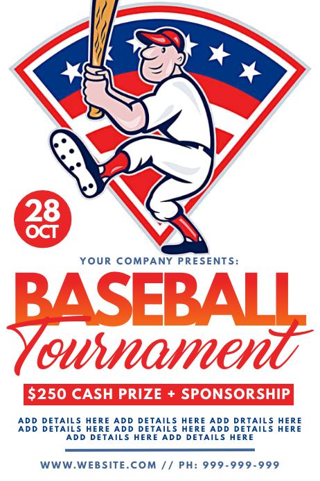 Baseball Tournament Poster