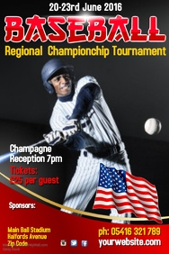 Baseball Tournament Poster