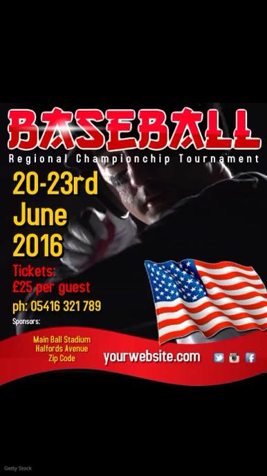 Baseball Tournament Template