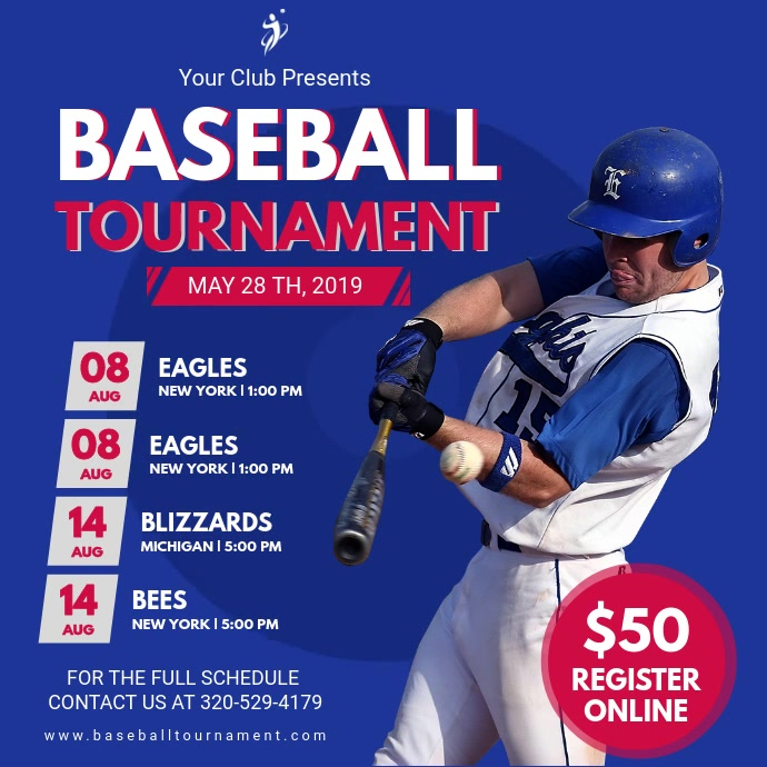 Baseball Tournament Schedule Video Invitation
