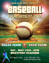Baseball tournament template Flyer (US Letter)